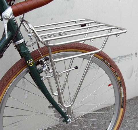 Deluxe SOMA Porteur Front Rack - Stainless Steel