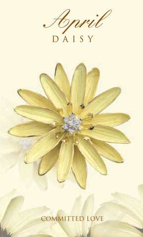 Daisy Birth Flower Brooch/Pendant