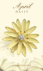 April birth flower daisy brooch pendant in 18K gold