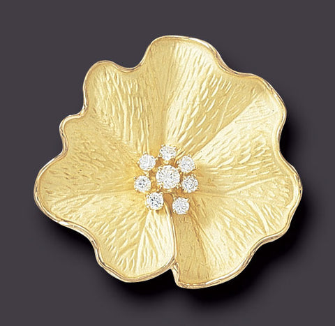 Alpine Rose Brooch/Pendant