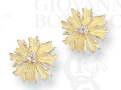 marigold earrings, small, 18K gold