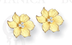 peach blossom earrings, 18K gold