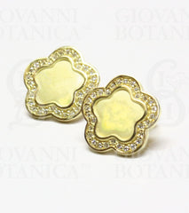 begonia earrings 18K gold