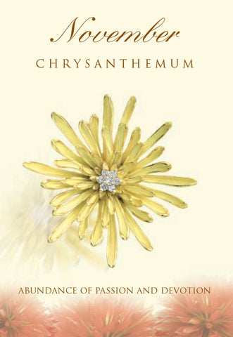 Chrysanthemum Birth Flower Pendant