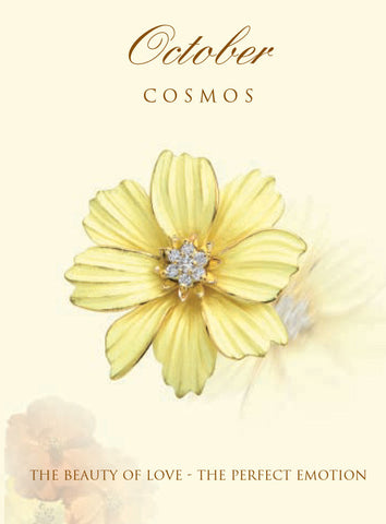 Cosmos Birth Flower Earrings