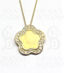 begonia pendant in 18K gold