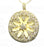 daisy sun pendant 18K gold with diamond accents