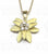 jasmine pendant 18K gold with diamond accents