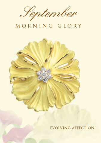 Morning Glory Birth Flower Earrings