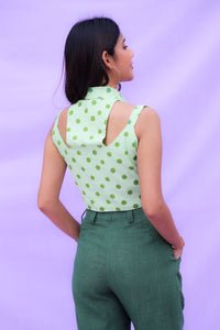 Green Polka Top
