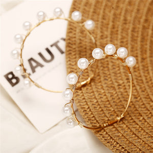 Statement Pearl Hoops