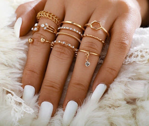 statement Ring set of 10