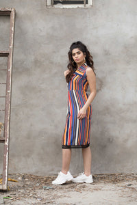 Multi Color Stripped Dress
