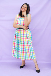 Multicolor Checks Dress