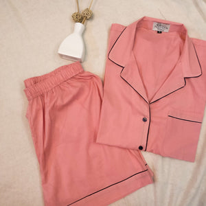 Peach Night Suit Set (Shorts)