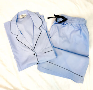 Sky Blue Night Suit Set (Shorts)