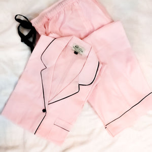 Baby Pink Night Suit Set (Pyjamas)