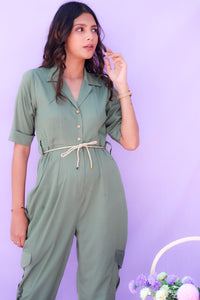 Olive Green Jumpsuit