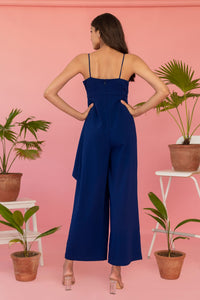 Blue Jumpsuit With Centre Knot