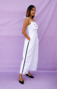 White Button Jumpsuit
