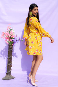 Yellow Floral Dress
