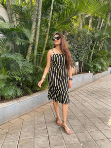 Black & Neon Stripe Dress
