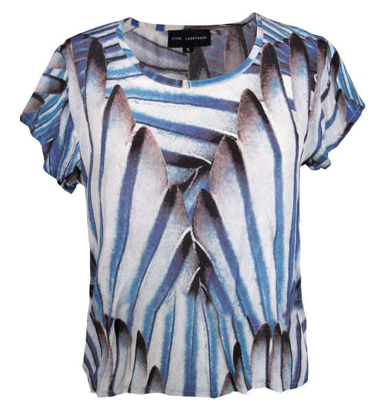 Claire Tee - Feather Print