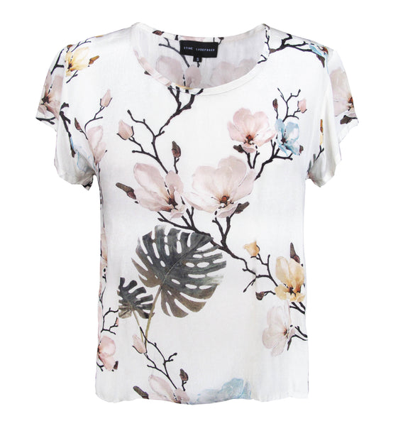 Claire Tee - Flower Print