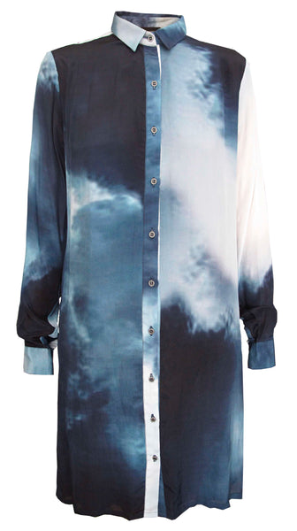 Clemmentine Shirt -Smoke-cloud print