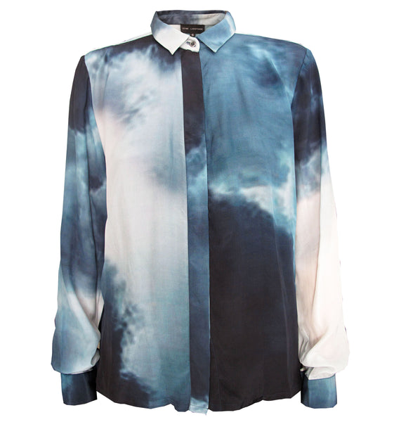 "Callie Shirt ""cloud-smoke print"""