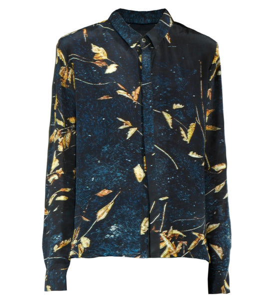 Callie Shirt - Leaves print