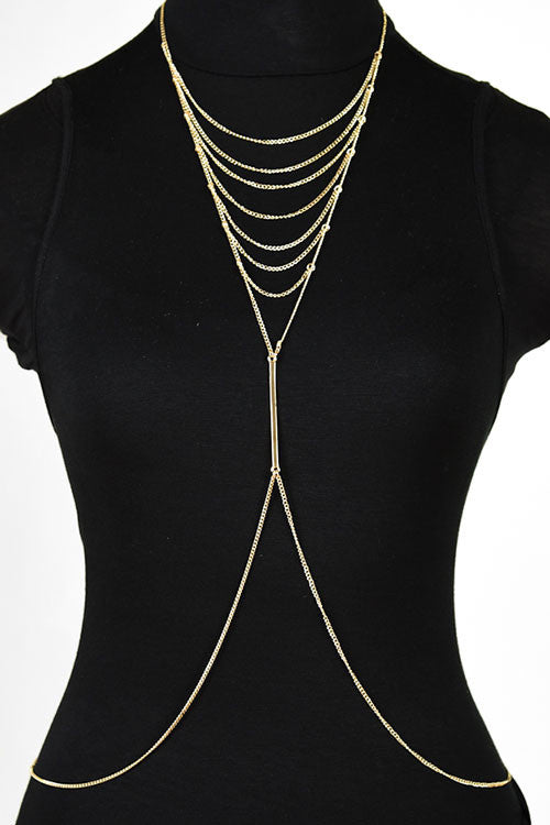 Brianna Gold Multi Layered Body Chain