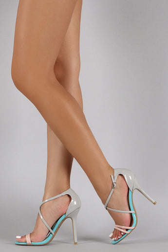Lauren Gray/Beige Strappy High Heels