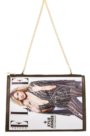Kylie Jenner Magazine Cover Clutch Bag