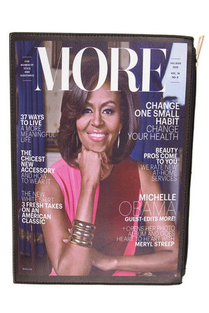 "First Lady Michelle Obama "" More"" Magazine Cover Clutch Bag"