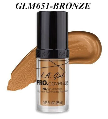 Gia LA GIRL Pro Coverage Illuminating Foundation- GLM651- BRONZE