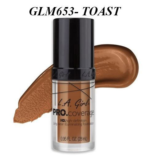 Gia LA GIRL Pro Coverage Illuminating Foundation- GLM653-TOAST
