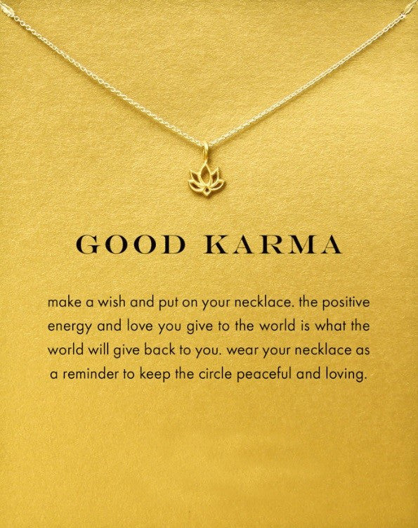 "Jalissa Gold "" Good Karma"" Necklace"