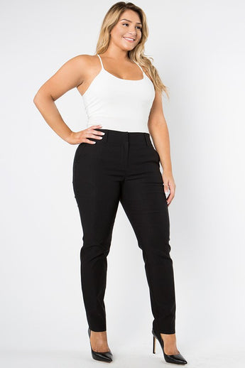 Amina Black Fitted Pants