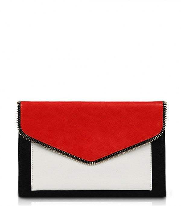 Brooklyn Red Multi Color Clutch