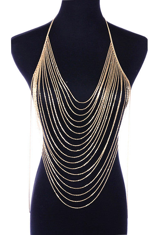 Kelly Gold Muti Layered Body Chain