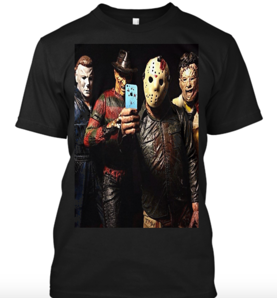 How About A Selfie? Horror Icons Men's T Shirt