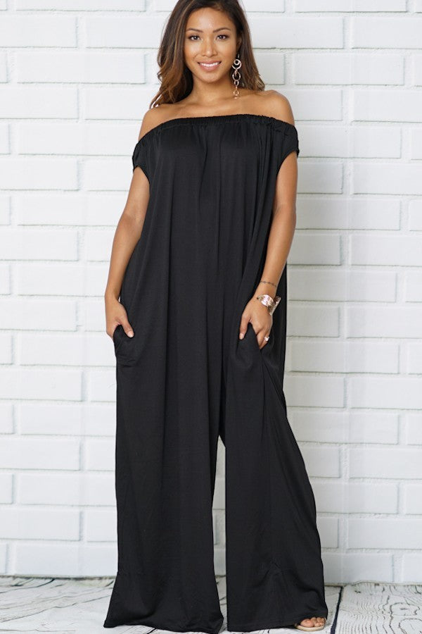 Karina Black Wide Leg Jumpsuit