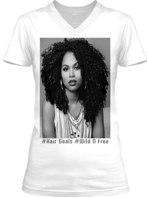 #Hair Goals #Wild N Free Ladies Fitted T Shirt
