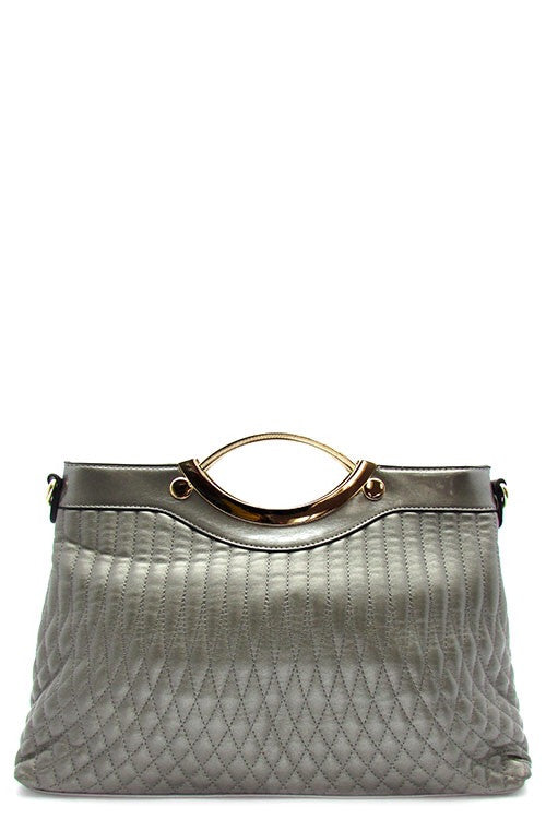 Summer Pewter Oversized Vegan Oversized Clutch/ Bag
