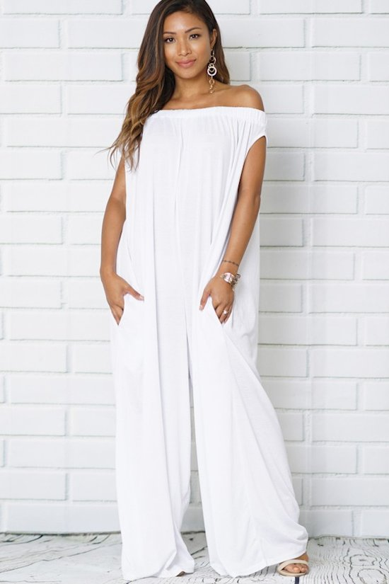 Karina White Wide Leg Jumpsuit