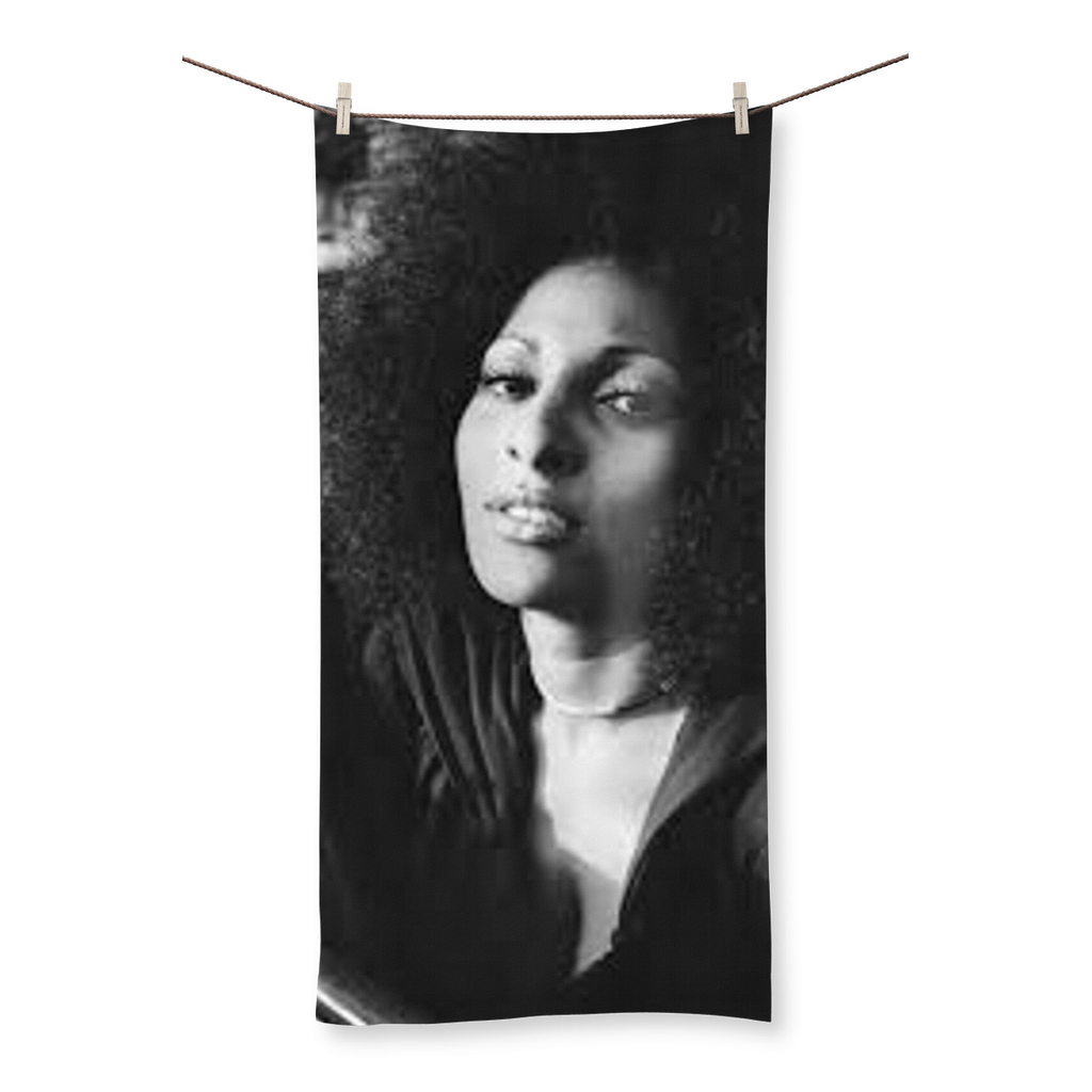 70's Icon Pam Grier Beach Towel