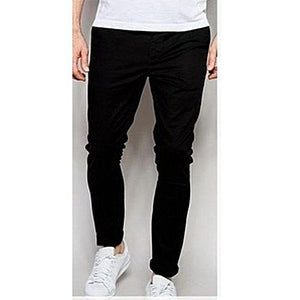 Men's Fashion Chinos - Black