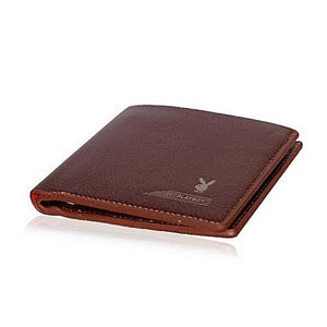 Playboy Luxury Men's Leather Wallet - Brown
