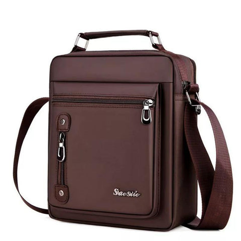 Men'S Bags Handbags Oxford Male Bolsa Men Messenger Shoulder Bags Waterproof Handbags For Travel Multifunction Bags Business Sac - Brown